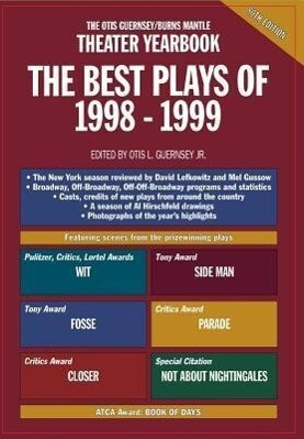 Theater Yearbook the Best Plays of 1998 - 1999 als Buch