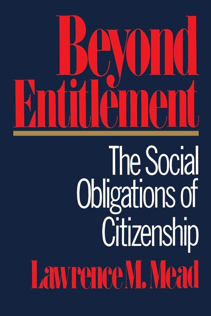 Beyond Entitlement als Taschenbuch