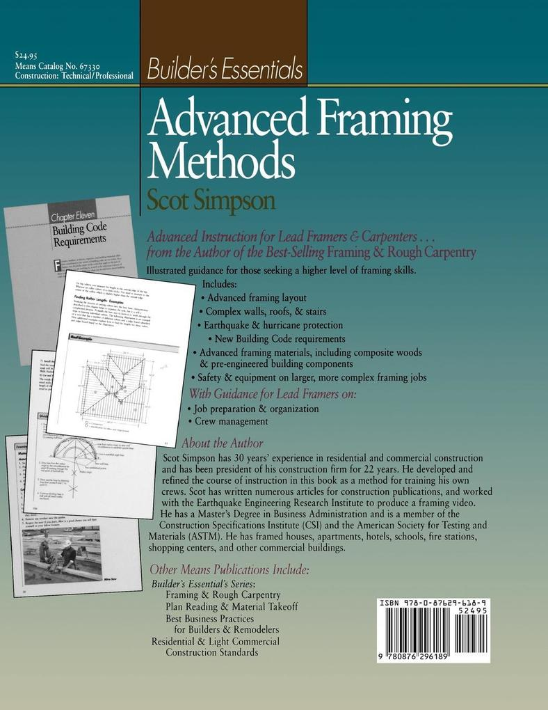 Advanced Framing Methods als Taschenbuch