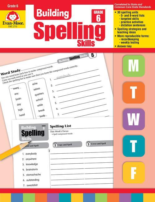 Building Spelling Skills, Grade 6 als Taschenbuch