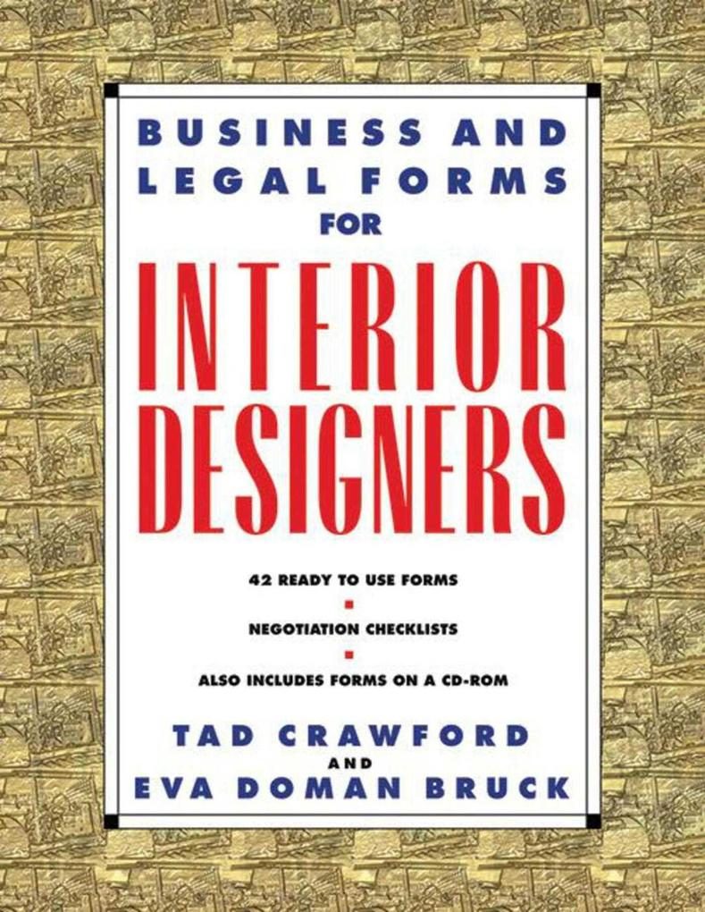 Business and Legal Forms for Interior Designers [With CDROM] als Taschenbuch
