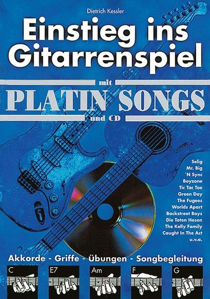 Einstieg ins Gitarrenspiel mit Platin Songs und CD als Buch