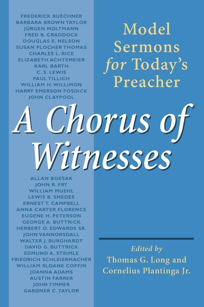 A Chorus of Witnesses als Taschenbuch