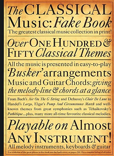 The Classical Music Fake Book als Taschenbuch