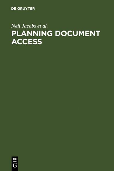 Planning Document Access als Buch (gebunden)