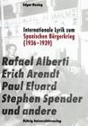 Internationale Lyrik zum Spanischen Bürgerkrieg (1936-1939)