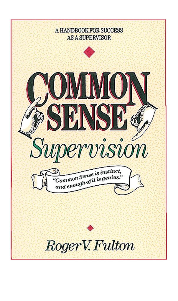 Common Sense Supervision als Taschenbuch