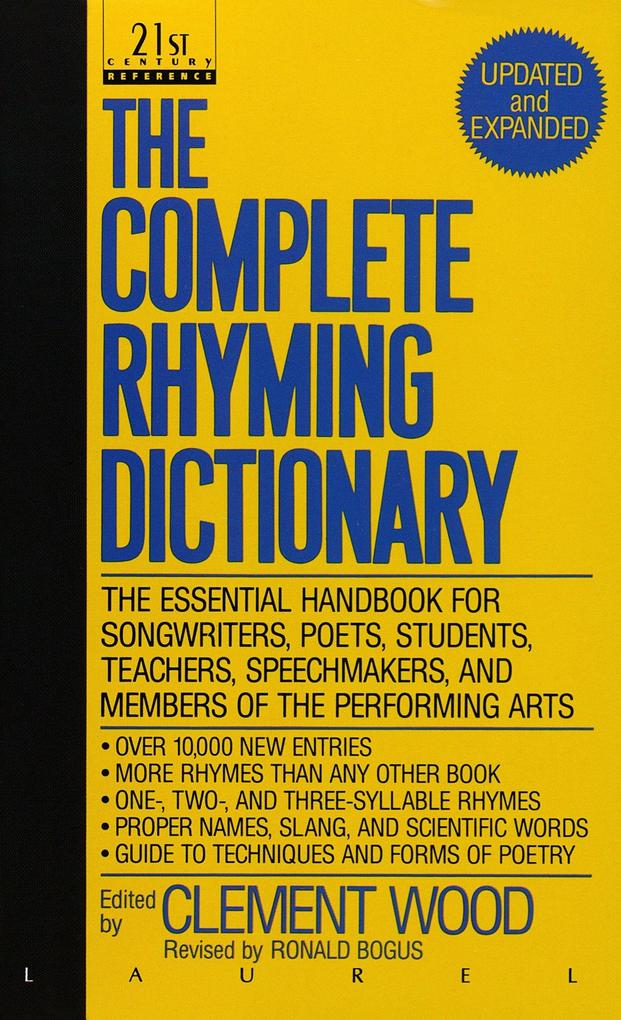 The Complete Rhyming Dictionary als Taschenbuch