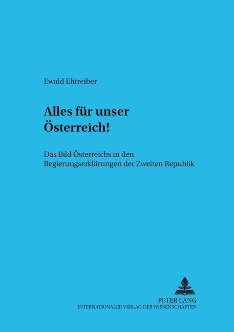 'Alles für unser Österreich!' als Buch (kartoniert)