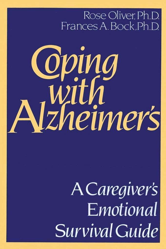 Coping with Alzheimer's als Taschenbuch