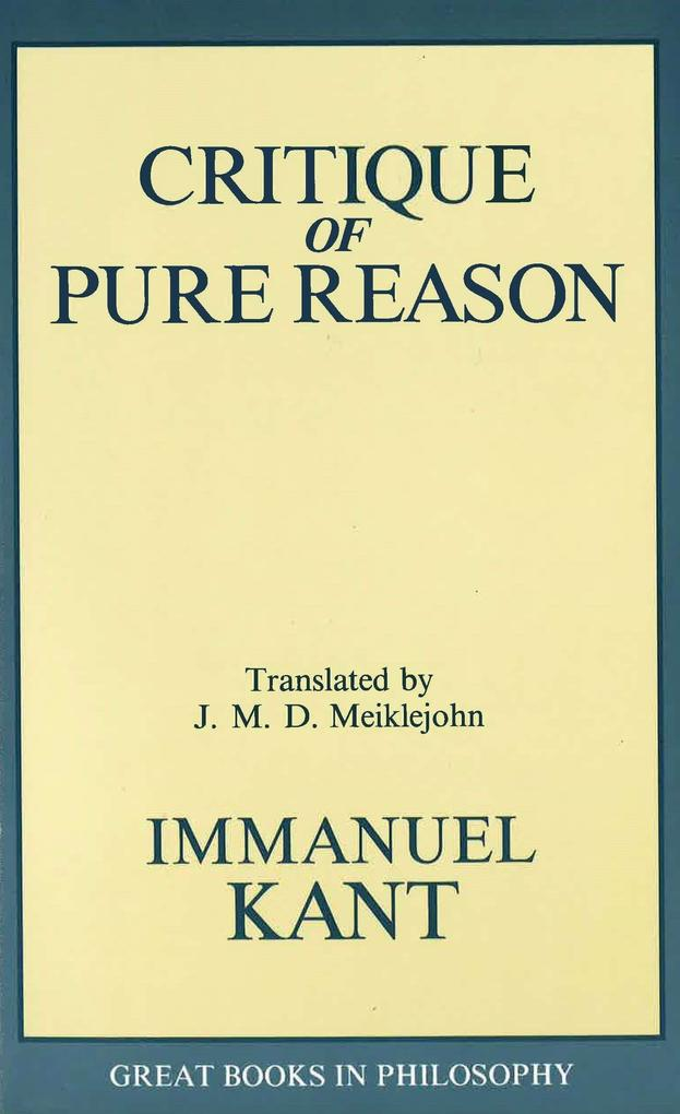 The Critique of Pure Reason als Taschenbuch