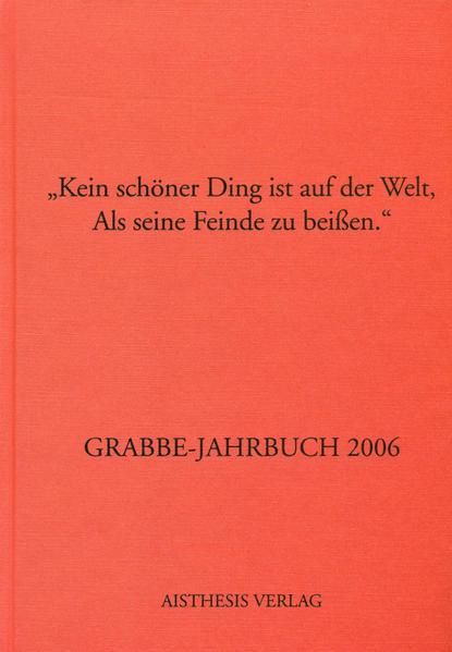 Grabbe-Jahrbuch 2006 als Buch