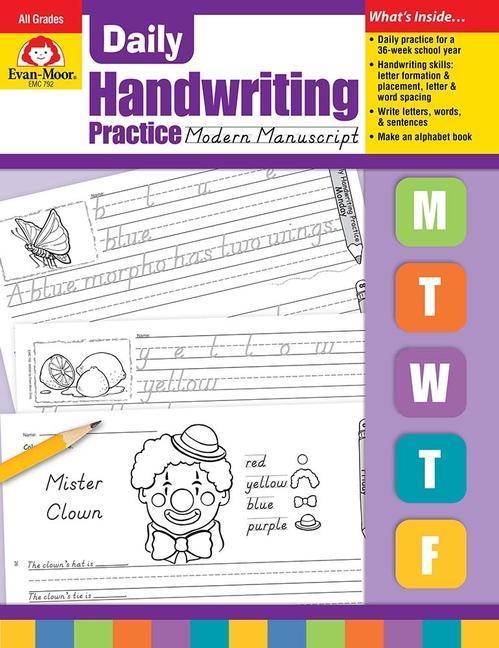 Daily Handwriting Practice, Modern Manuscript als Taschenbuch