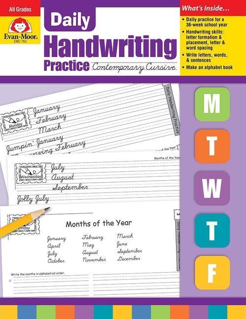 Daily Handwriting Practice, Contemporary Cursive als Taschenbuch