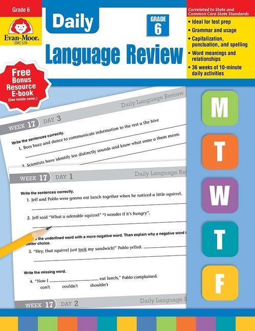 Daily Language Review, Grade 6+ als Taschenbuch
