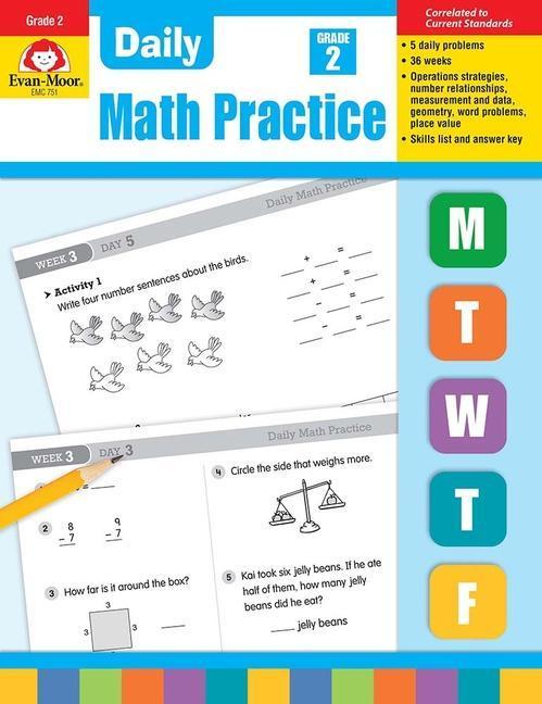 Daily Common Core Math Practice, Grade 2 als Taschenbuch