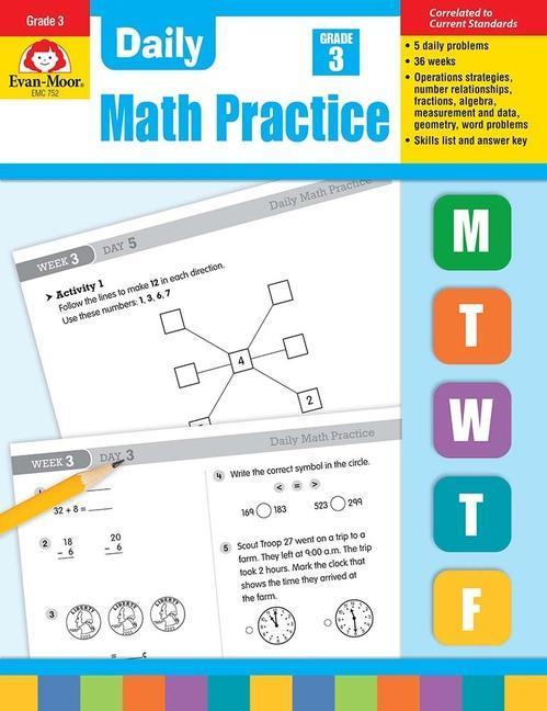Daily Common Core Math Practice, Grade 3 als Taschenbuch