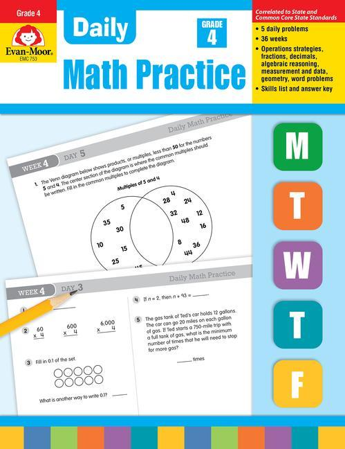 Daily Common Core Math Practice, Grade 4 als Taschenbuch