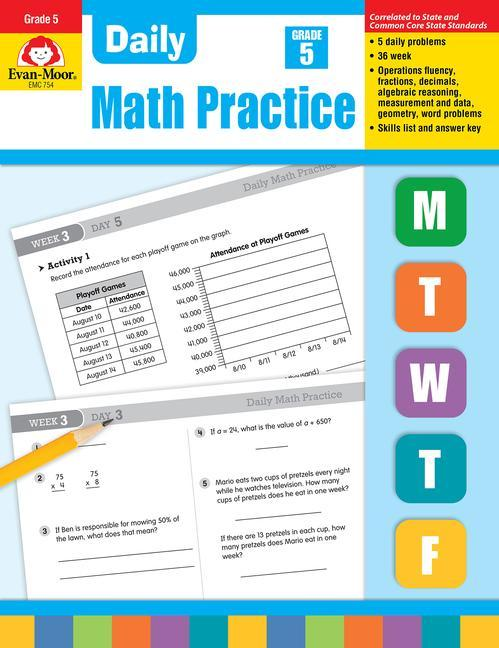 Daily Common Core Math Practice, Grade 5 als Taschenbuch