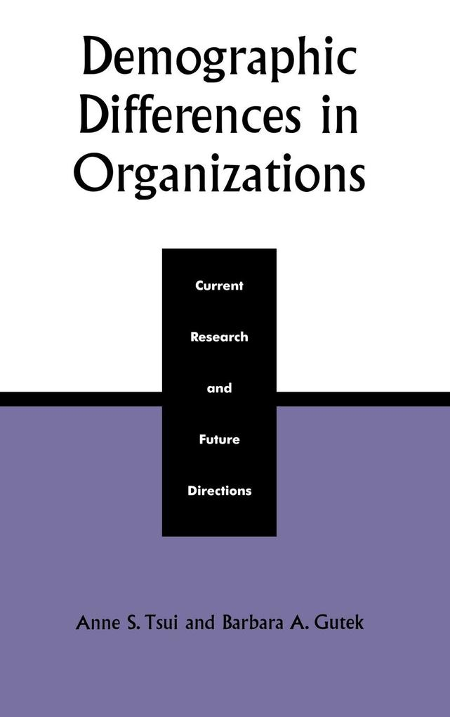 Demographic Differences in Organizations als Buch