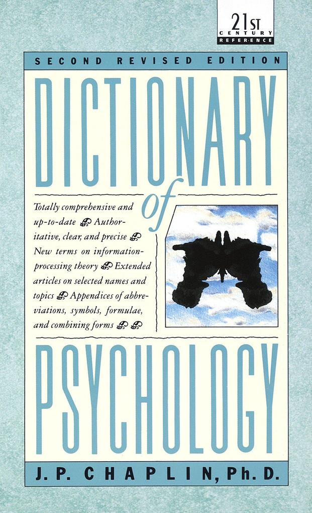 Dictionary of Psychology als Taschenbuch