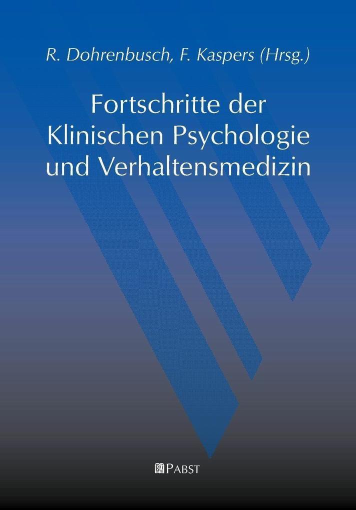 Fortschritte der Klinischen Psychologie und Verhaltensmedizin