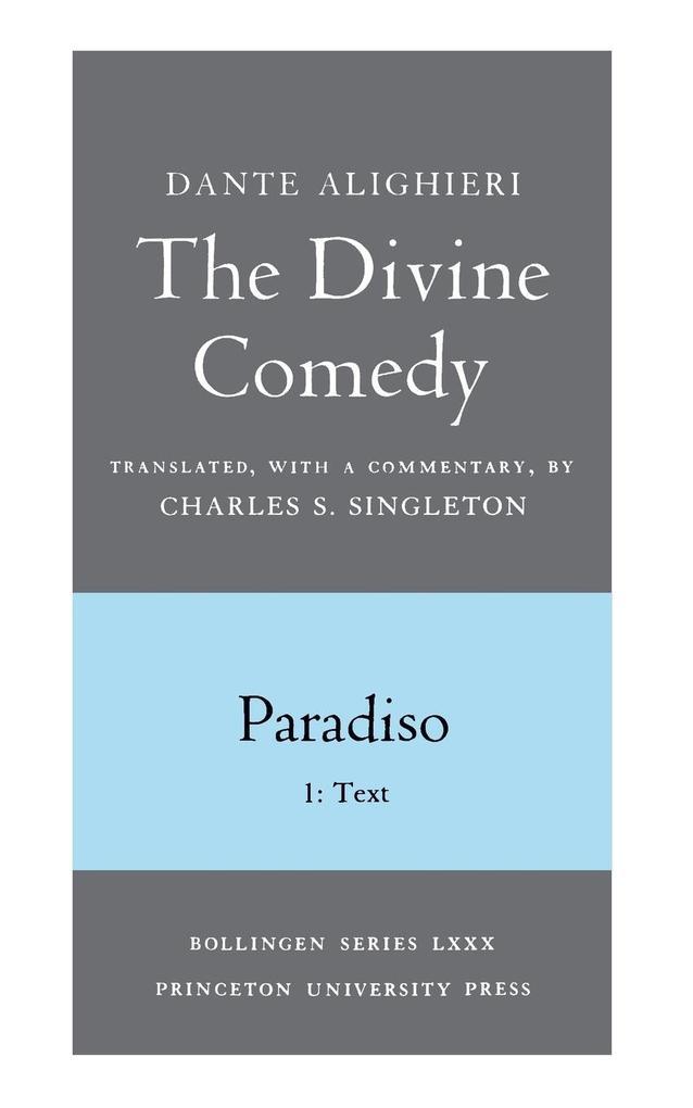 Divine Comedy, III. Paradiso, Vol. III. Part 1 als Taschenbuch