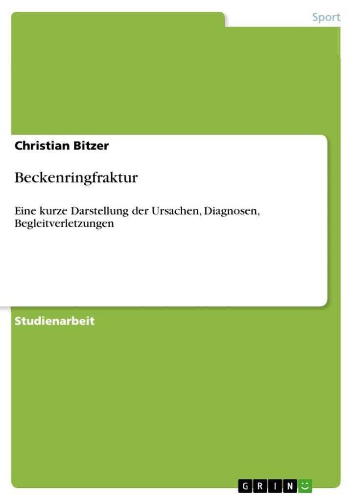 Beckenringfraktur als eBook