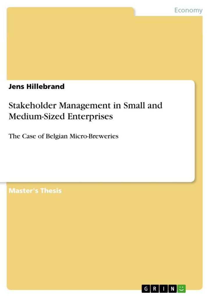 Stakeholder Management in Small and Medium-Sized Enterprises