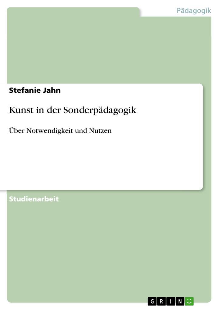 Kunst in der Sonderpädagogik als eBook von Stef...