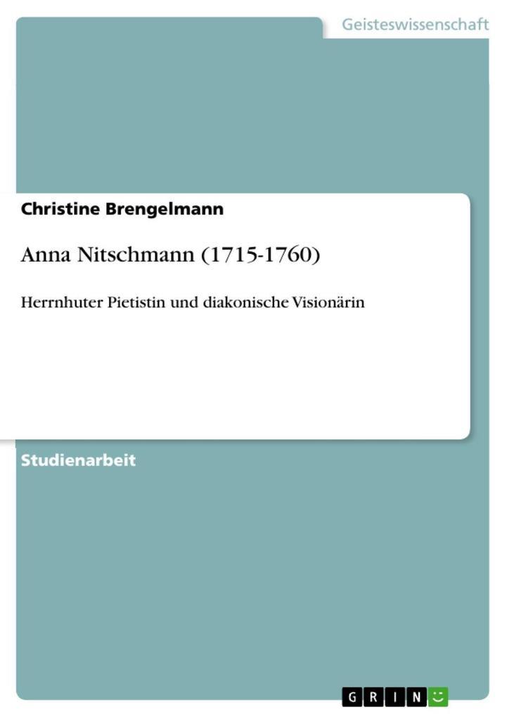 Anna Nitschmann (1715-1760)
