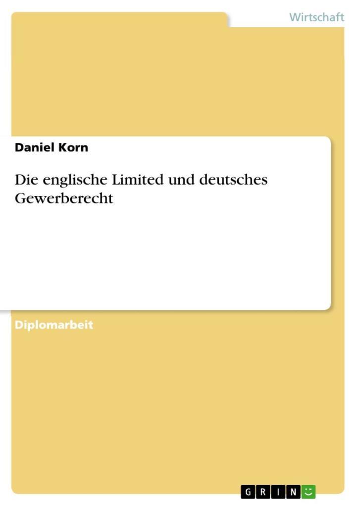 Die englische Limited und deutsches Gewerberecht