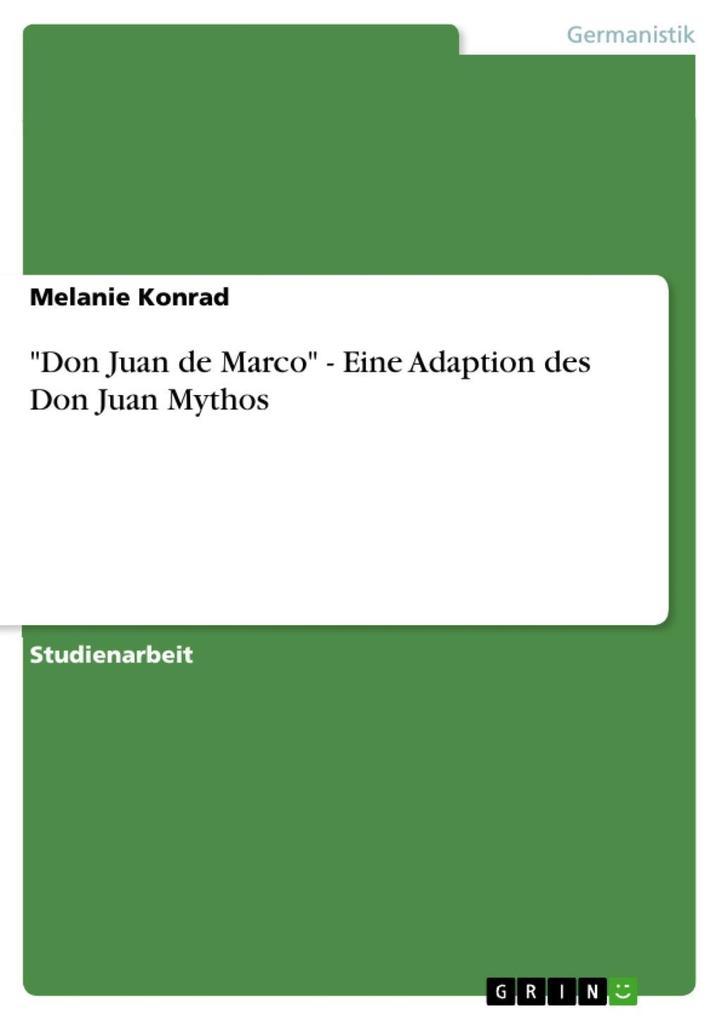 Don Juan de Marco - Eine Adaption des Don Juan Mythos