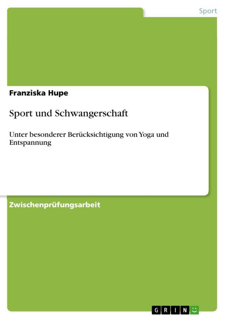 Sport und Schwangerschaft