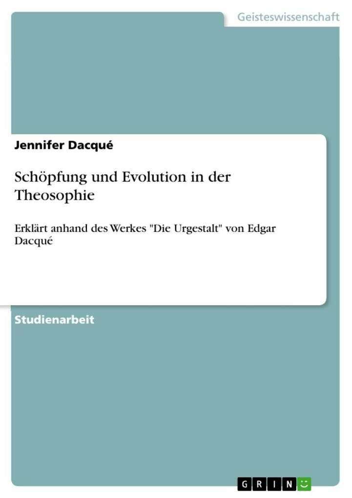 Schöpfung und Evolution in der Theosophie