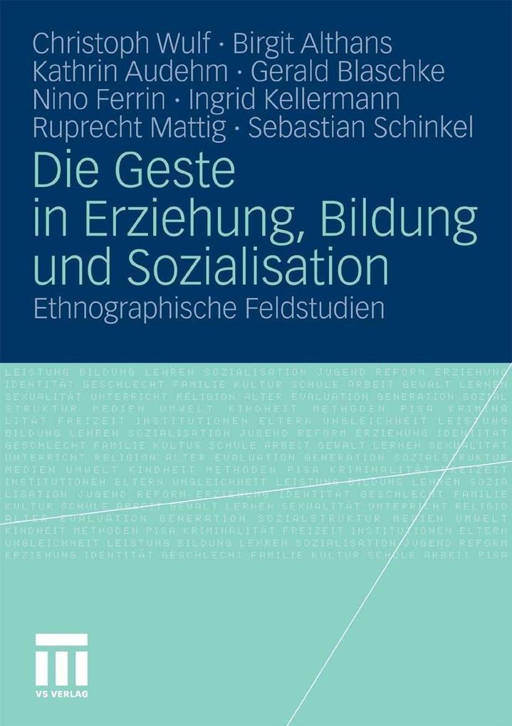 Die Geste in Erziehung, Bildung und Sozialisation als eBook pdf