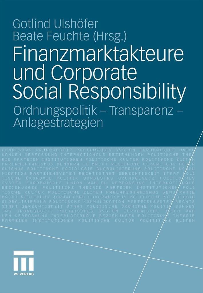Finanzmarktakteure und Corporate Social Responsibility als eBook pdf