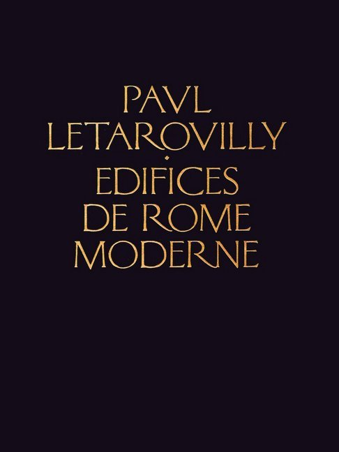 Edifices de Rome Moderne als Buch