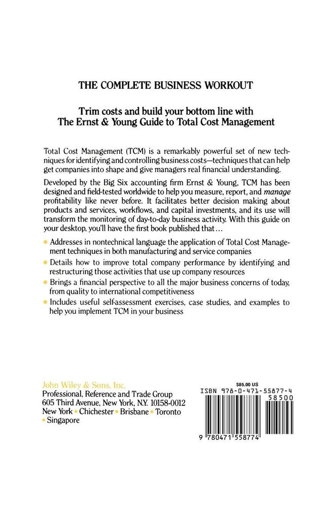 The Ernst & Young Guide to Total Cost Management als Buch