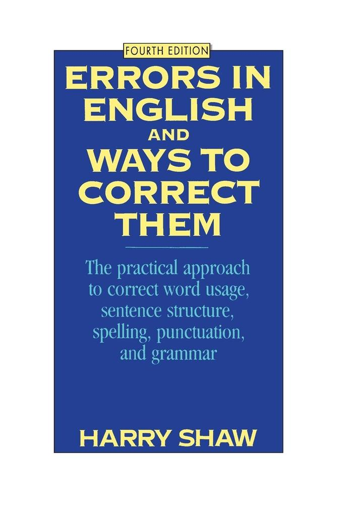 Errors in English and Ways to Correct Them: Fourth Edition als Taschenbuch