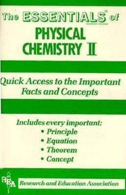 The Essentials of Physical Chemistry II als Taschenbuch