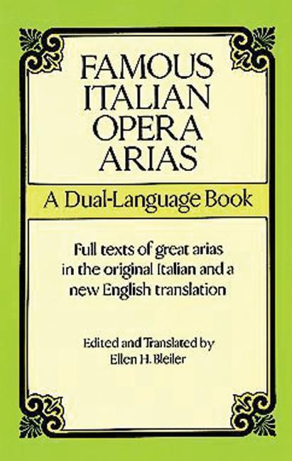 Famous Italian Opera Arias: A Dual-Language Book a Dual-Language Book als Taschenbuch