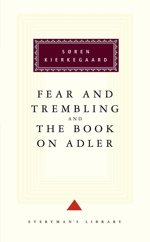Fear and Trembling and the Book on Adler als Buch