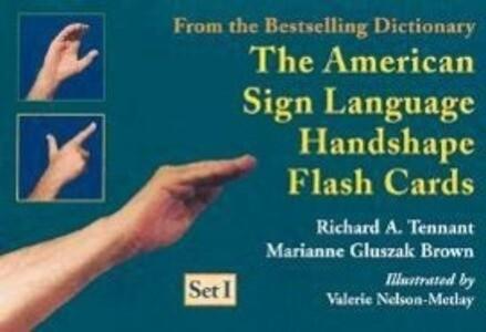The American Sign Language Handshape Flash Cards Set I als sonstige Artikel