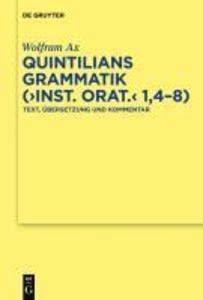 """Quintilians Grammatik (""""Inst. orat."""" 1,4-8) als eBook"""