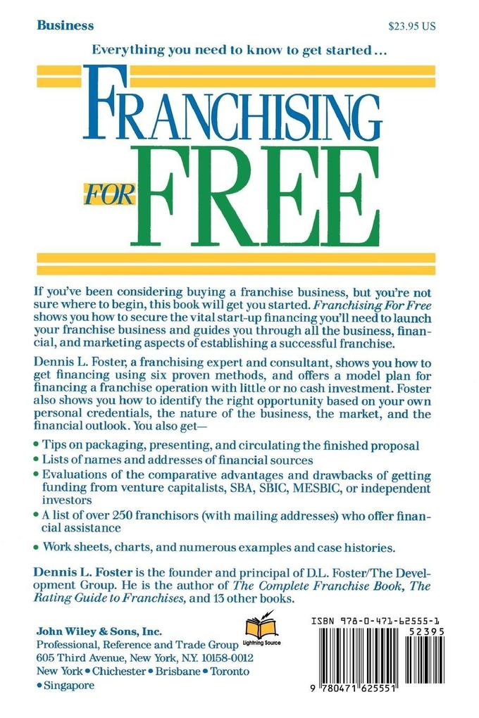 Franchising for Free: Owning Your Own Business Without Investing Your Own Cash als Taschenbuch