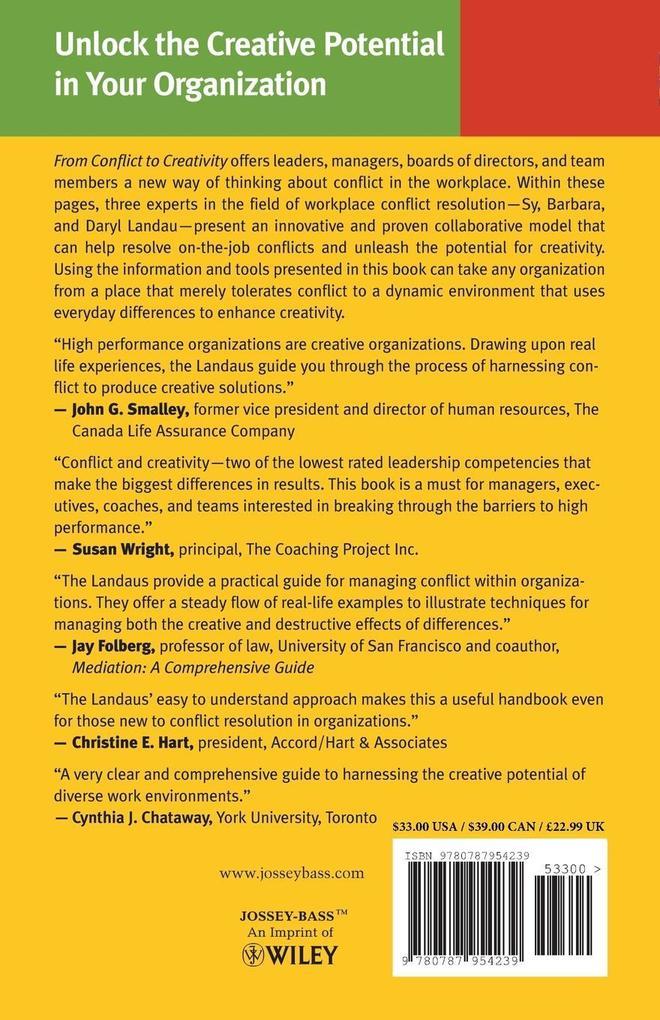 From Conflict to Creativity als Taschenbuch