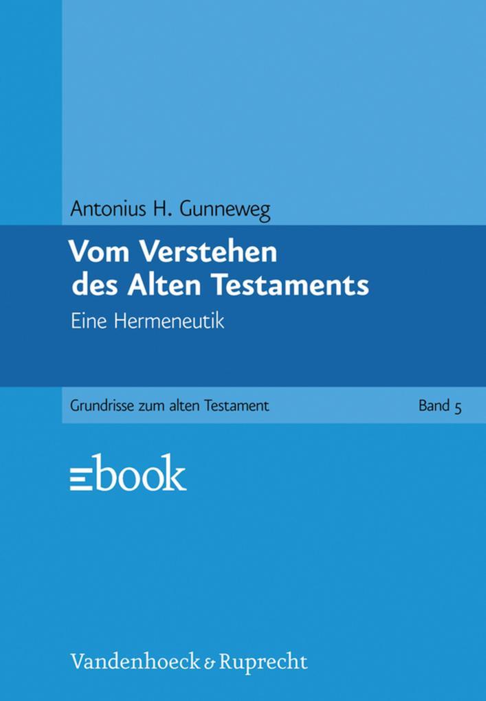 Vom Verstehen des Alten Testaments als eBook pdf
