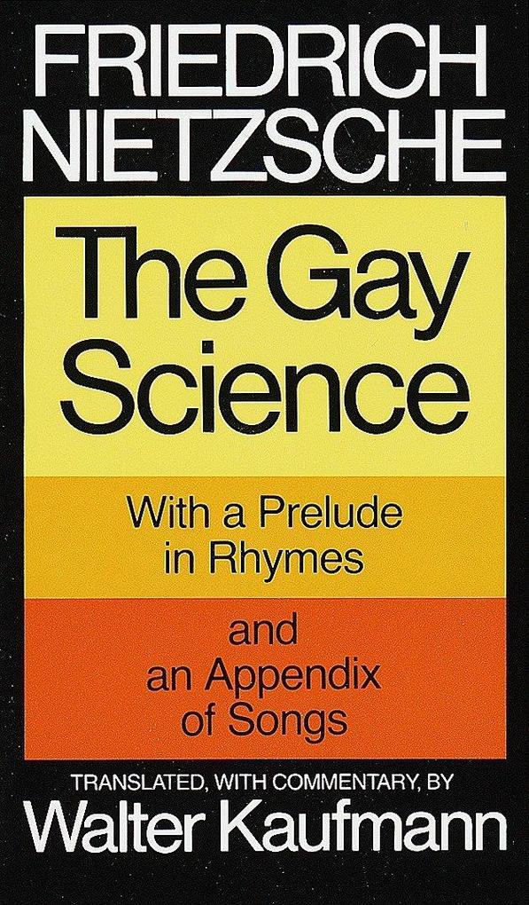 Gay Science als Taschenbuch
