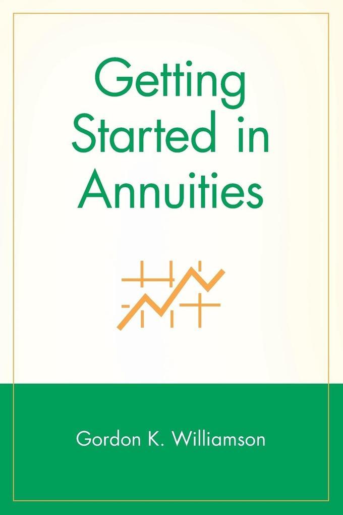 Getting Started in Annuities als Taschenbuch